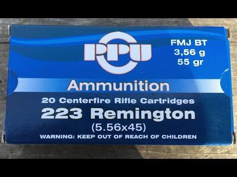 .223 Remington, 55gr FMJ Prvi Partizan, Velocity Test