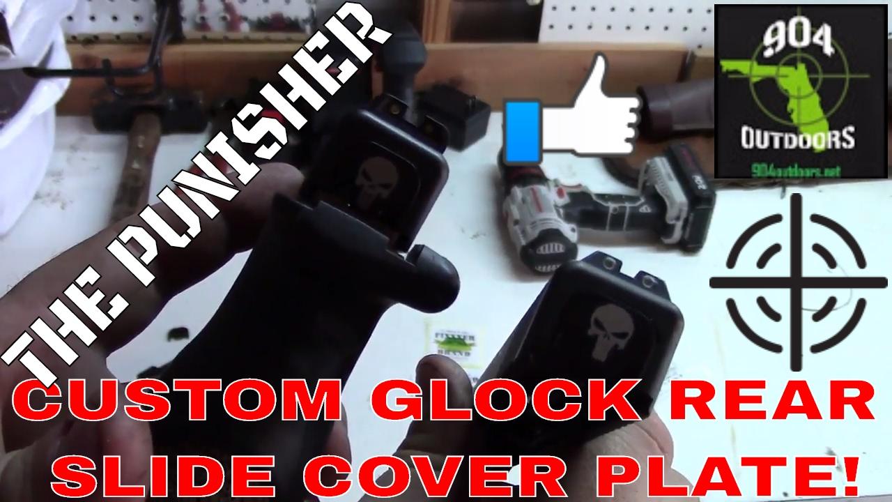 Glock Custom Slide Plate - THE PUNISHER