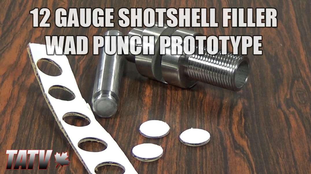 Prototype 12 Gauge Shotshell Filler Wad/Overshot Card Punch