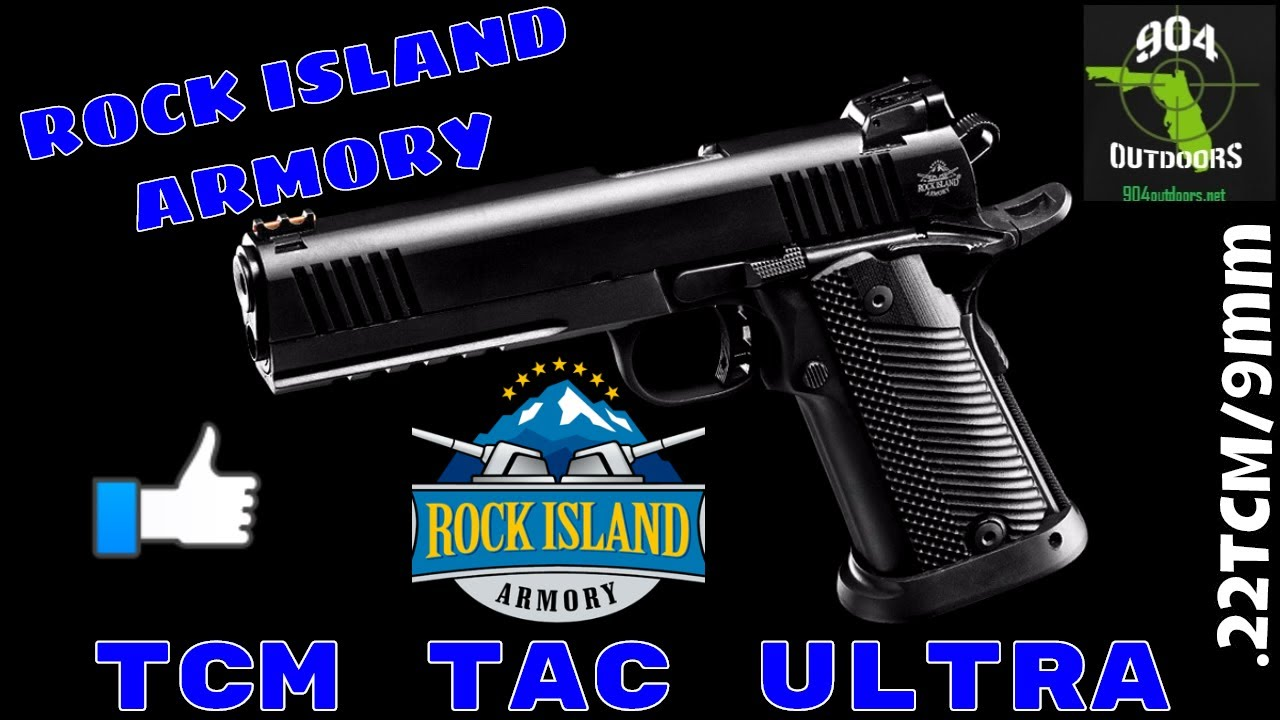 Rock Island Armory TCM TAC Ultra FS .22TCM/9mm Unboxing! Double Stack 1911