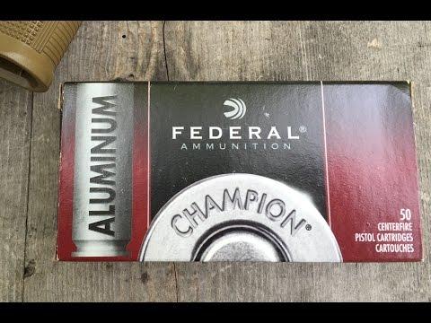 .45ACP, 230gr FMJ, Federal Champion Aluminum (CAL45230), Velocity Test