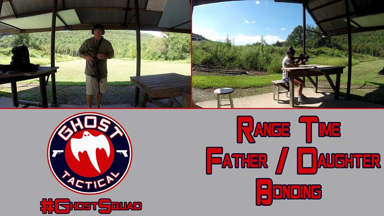 Range Time:  Me & My Daughter Shooting AR-15 & Pistols