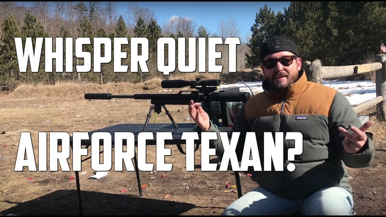 Testing the AirForce Texan .45  Big Bore Airgun with the DonnyFL Emperor Suppressor