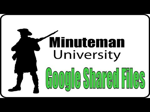 Using Google Shared Files - Minuteman University