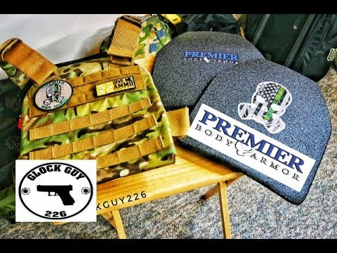 NEW PLATE CARRIER FROM PREMIER BODY ARMOR! DURUS 8000 LEVEL 3 PLATES!