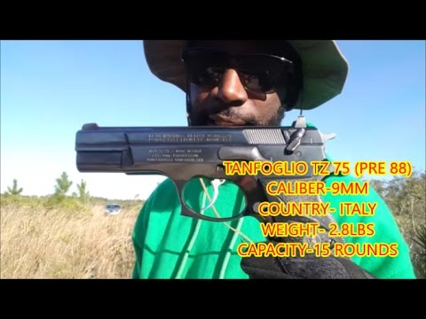 TANFOGLIO TZ 75 9MM SHOOTING REVIEW