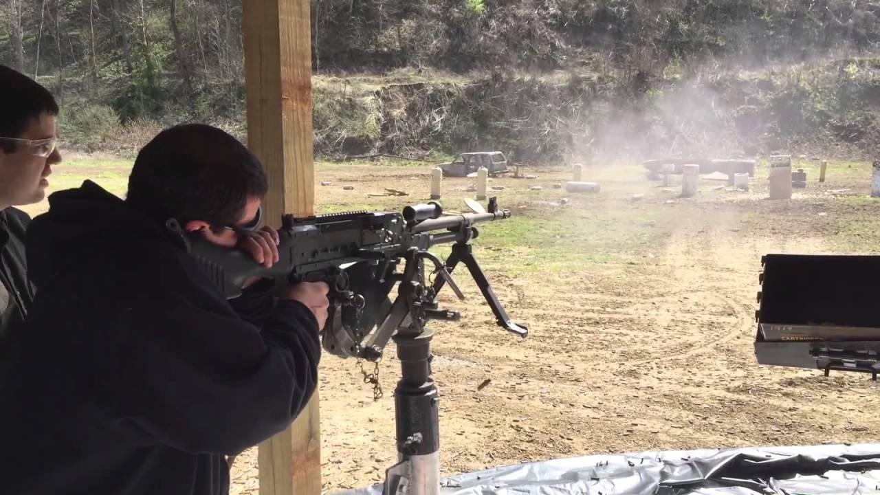 Shooting car with M240B at Knob Creek