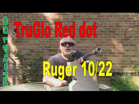 Trying the TruGlo Red Dot on the Ruger 10/22