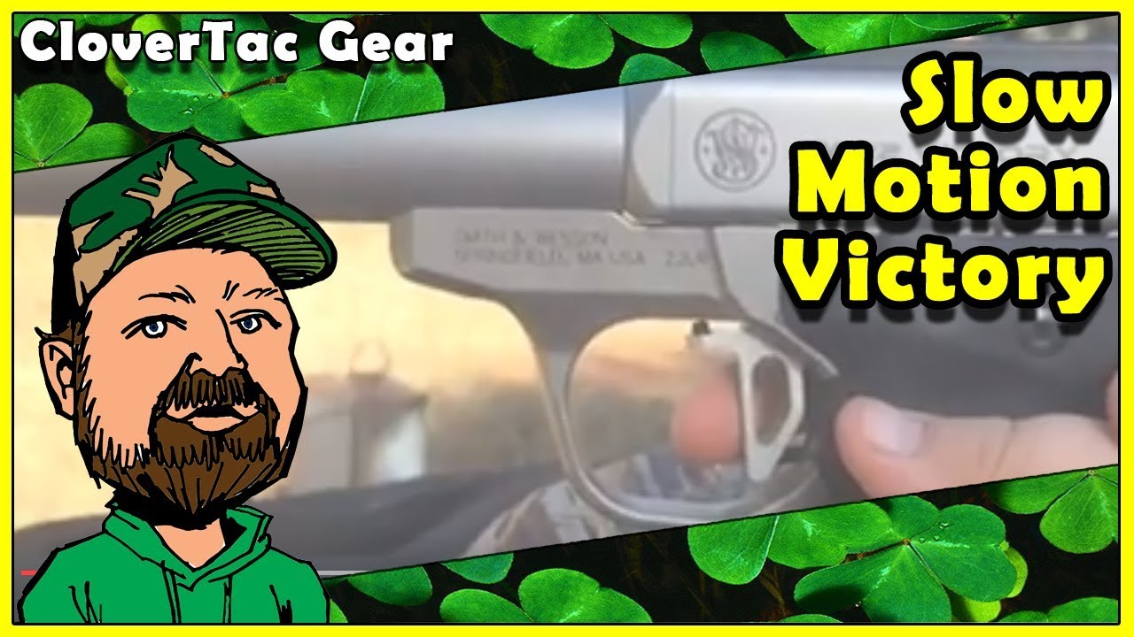 Smith & Wesson Victory .22 LR Pistol With Tandemkross Victory Trigger In Slow Motion