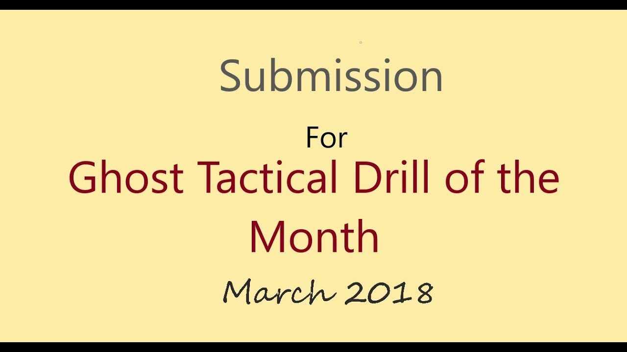 Ghost Tactical March Drill of the Month - Crazy Eight's