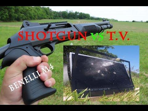 12 GAUGE SHOTGUN VS T.V. (Benelli M4)