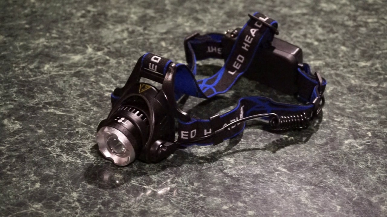 The inexpensive XM-L T6 LED headlamp from wish.com.