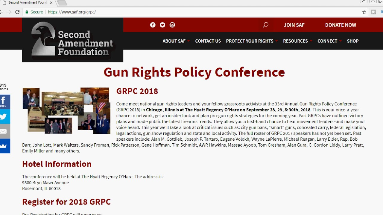 Gun Rights Policy Conference 2018 - May 2A Reminder