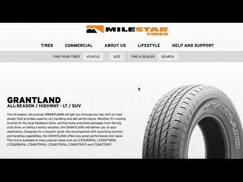 Milestar Grantland truck/suv tires initial impressions...