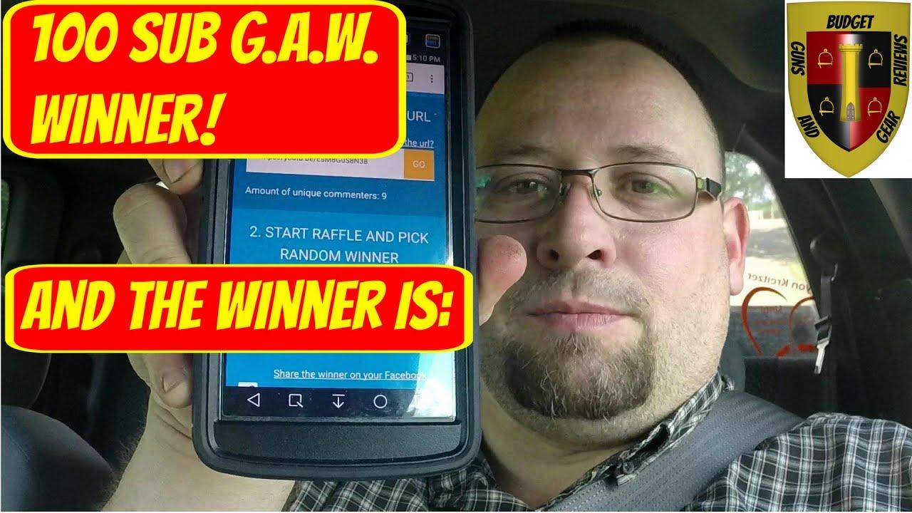 100 sub giveaway winner!