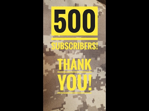 BIG THANKS FOR 500 SUBSCRIBERS!!!