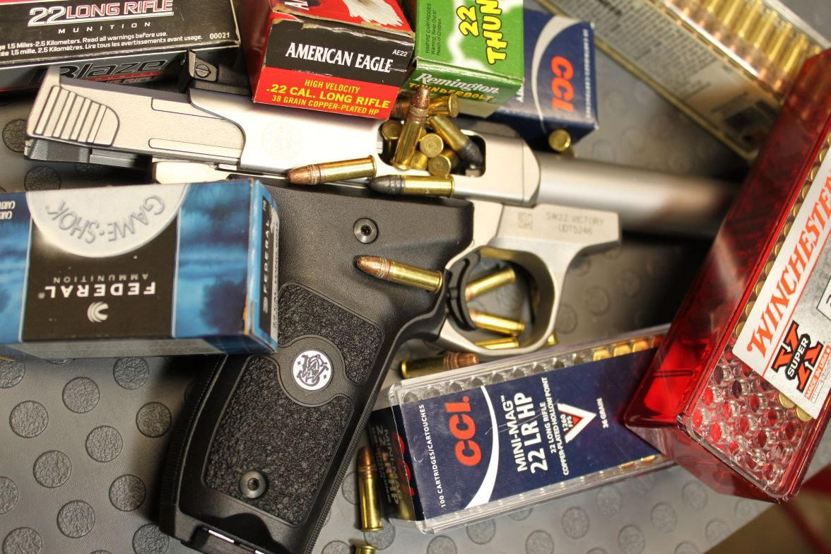 Smith & Wesson SW22 Victory Reliability ammo Test