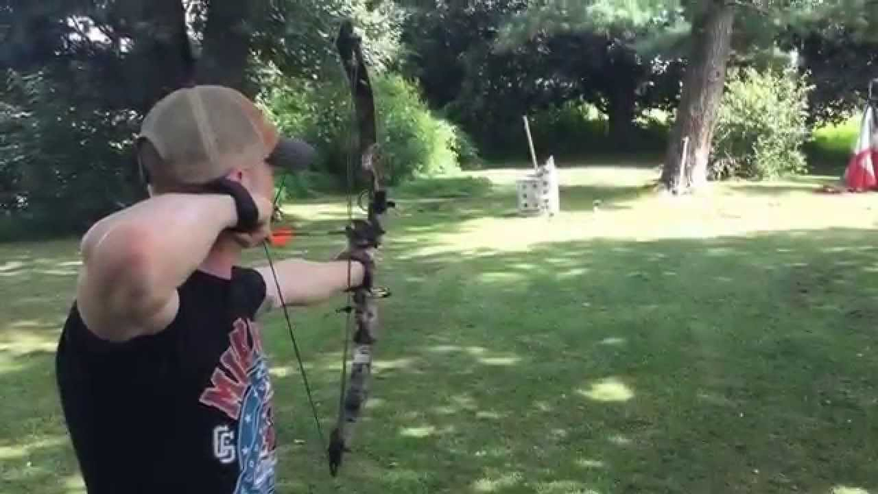 Archery hanging Apple trick shot