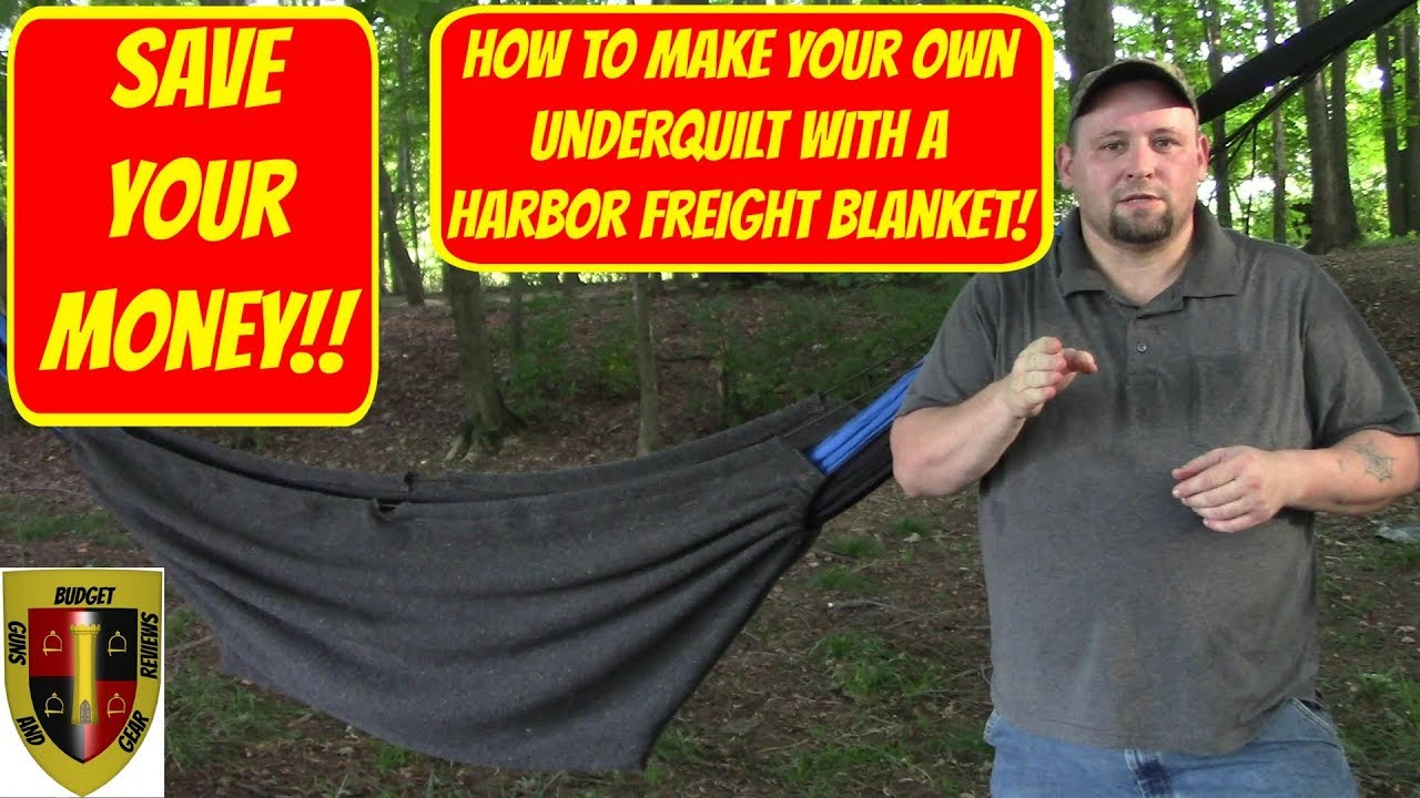 Save Your Money! Make your own underquilt from a Harbor Freight wool blanket!