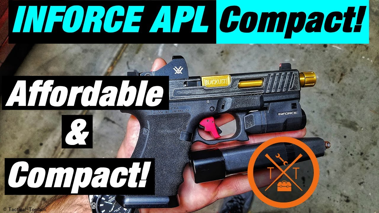 💥Inforce APL Compact Review 2017! Best Glock Mods For Carry?!