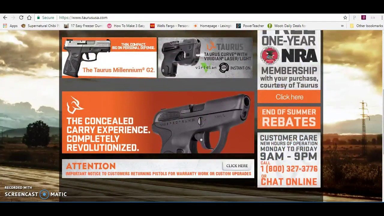 Taurus Firearms Unlimited Warranty No More?  G2C, TH update!  What...no TS9?