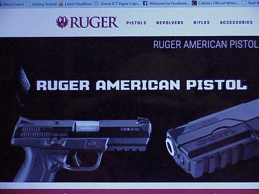 Ruger American Pistols 2015