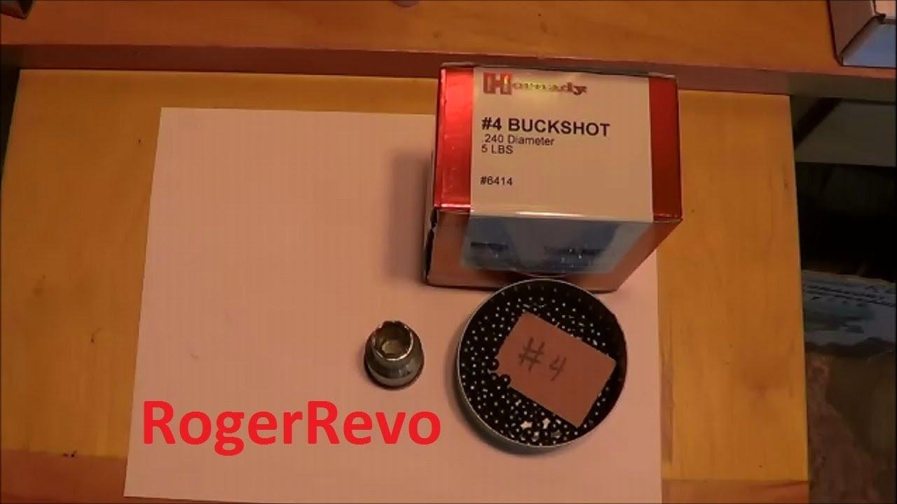 Reloading #4 buckshot in 20 gauge shotshells