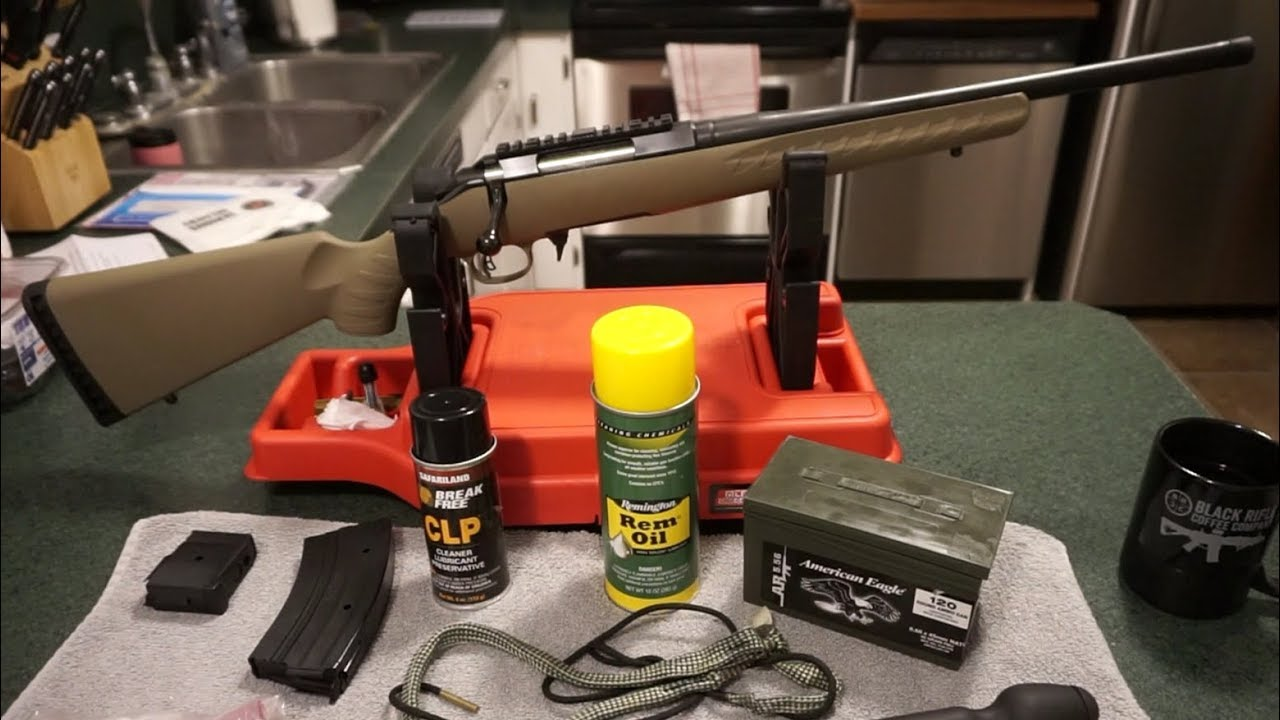 Ruger American Rifle Ranch 7.62x39 bolt action rifle cleaning.