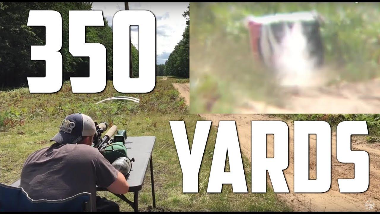 Airforce Texan .357 Hits Golf Ball at 350 Yards! AirGunDepot.com Long Ranger Challenge