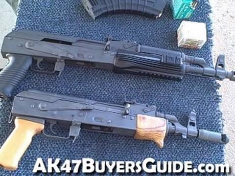 Shooting two AK47 Pistols
