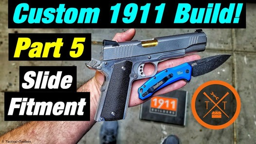 Custom 1911 Build Part 5: Slide To Frame Fitting! (Links in Description)