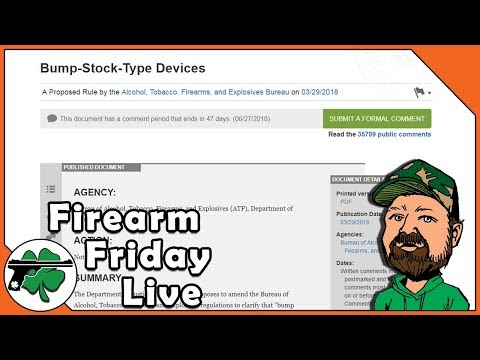 What Is Happening With Bump Stock Regulations? - Firearm Friday LIVE