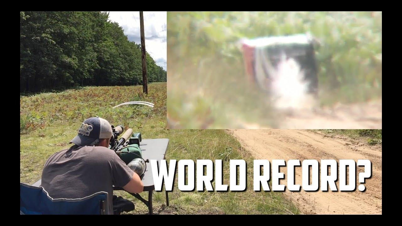 Hitting a Golf Ball at 350 Yards with an AirForce Texan Air Gun!