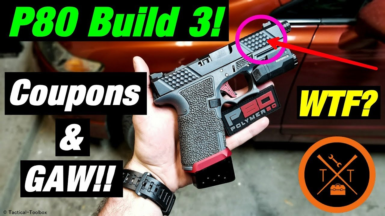 Affordable Custom Glock 19 Polymer 80 Build!! // INSANE! 💥...(w/ Links & Codes)