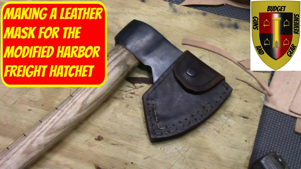 Make a leather mask for the modified HF hatchet!