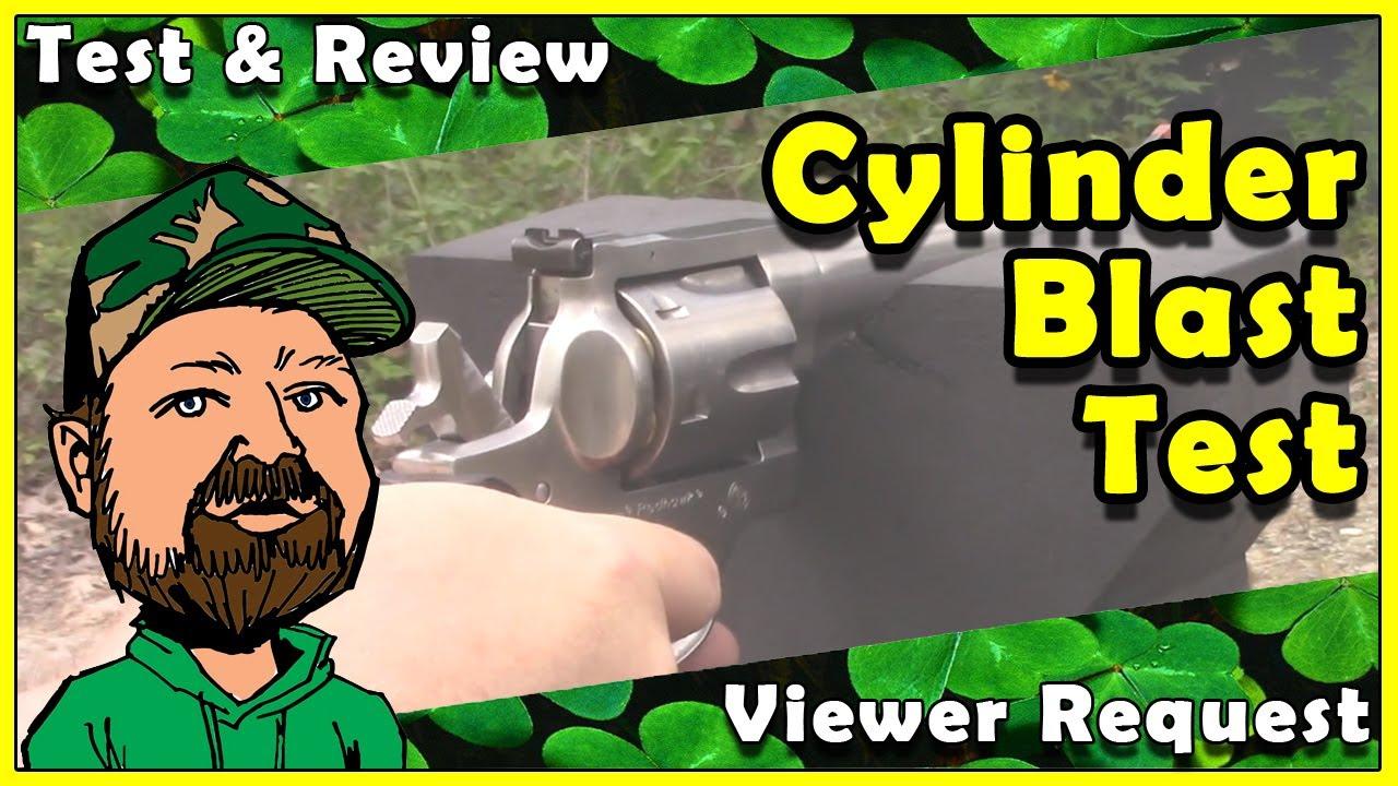 Foam Action Sports Gun Rest - Revolver Cylinder Blast - Durability Test - Viewer Submitted Request