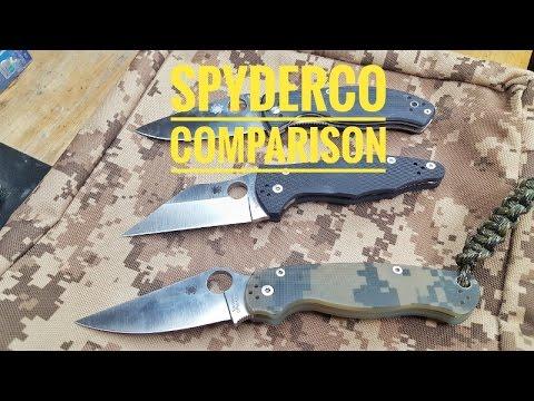 My Spyderco Knives! Paramilitary 2/YoJimbo 2/Tenacious