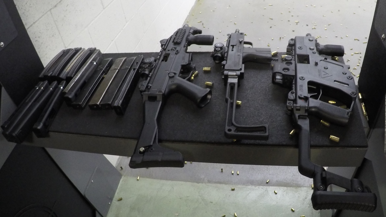 Kriss Vector SBR, CZ Scorpion SBR, and MPA M11-9SA SBR