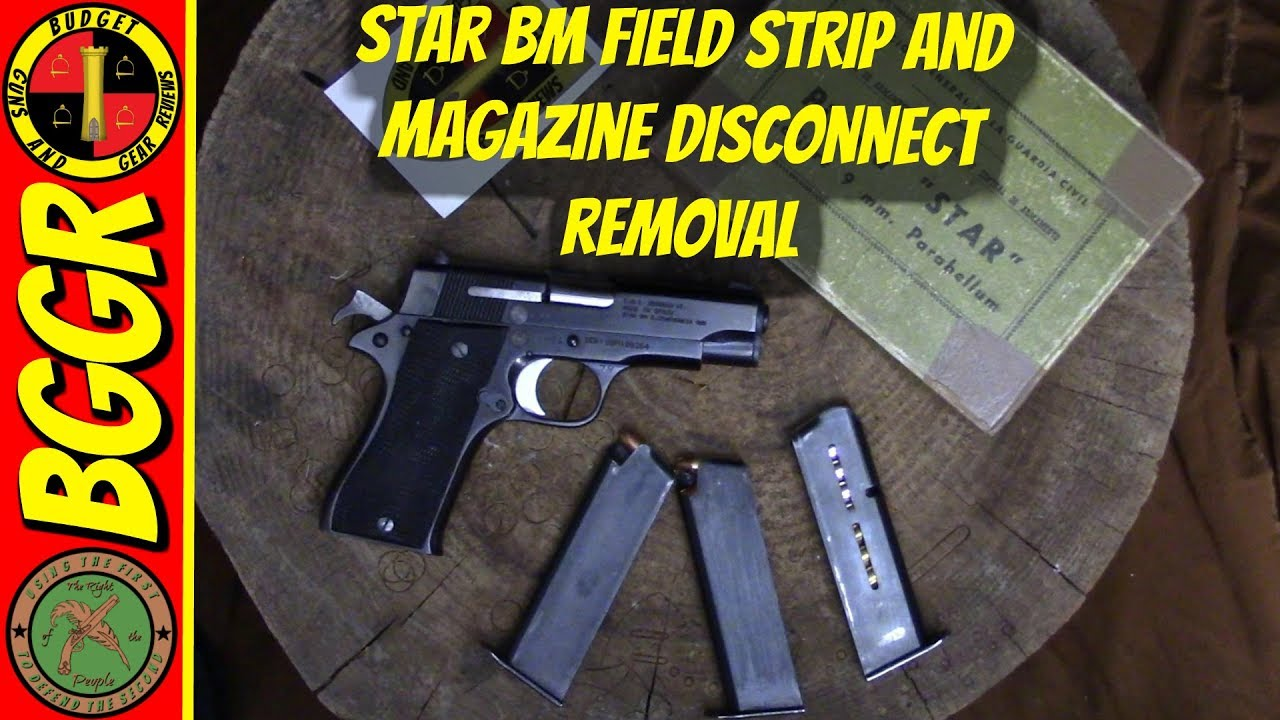 Star BM Surplus 9mm Pistol Field Strip and Mag Disconnect Removal