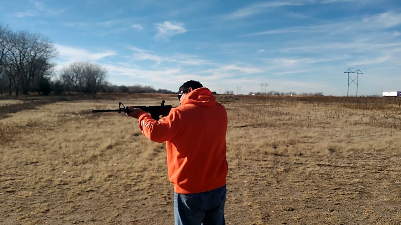 Step dad fires his own new Bear Creek AR for the first time!
