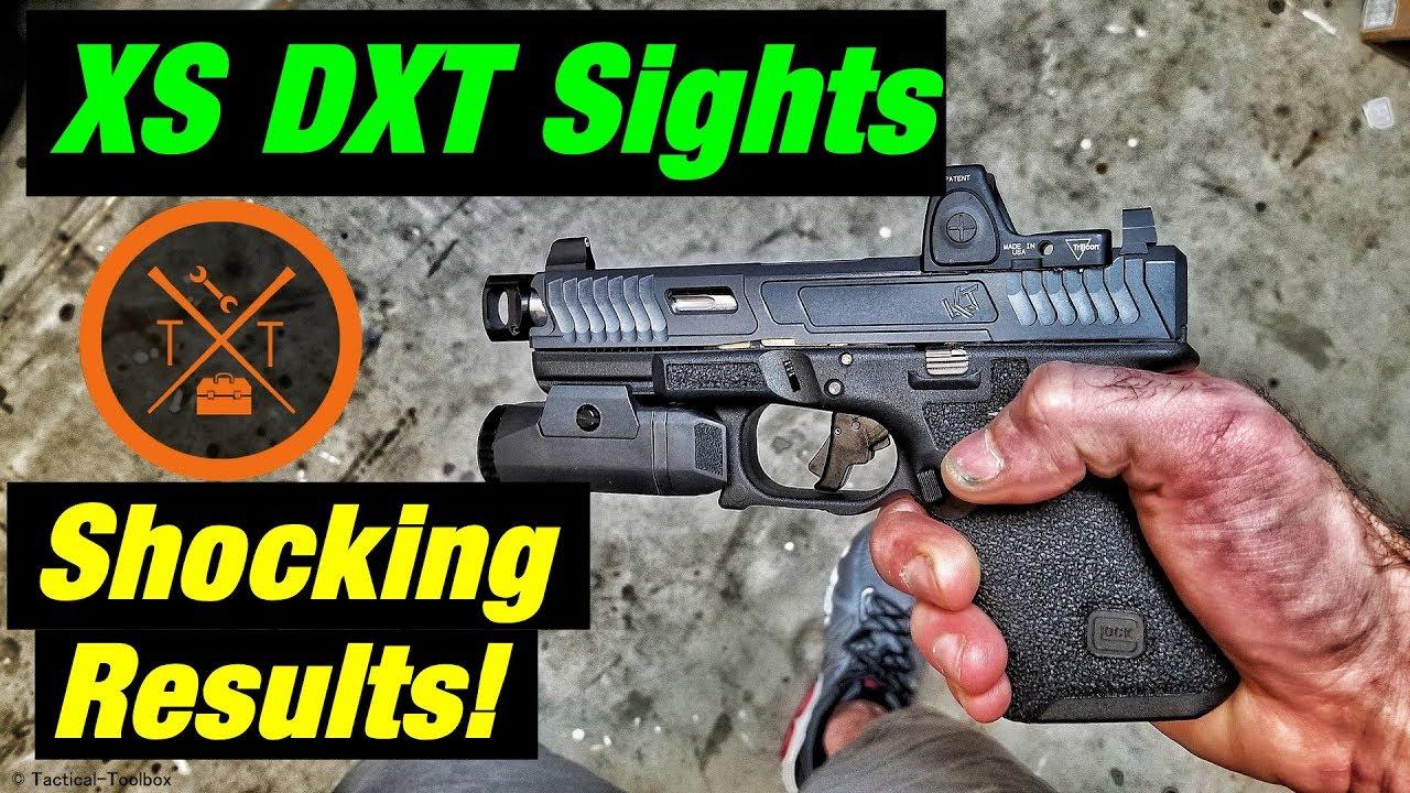 Best Night Sights For Red Dot Optics? XS DXT Suppressor Sights!