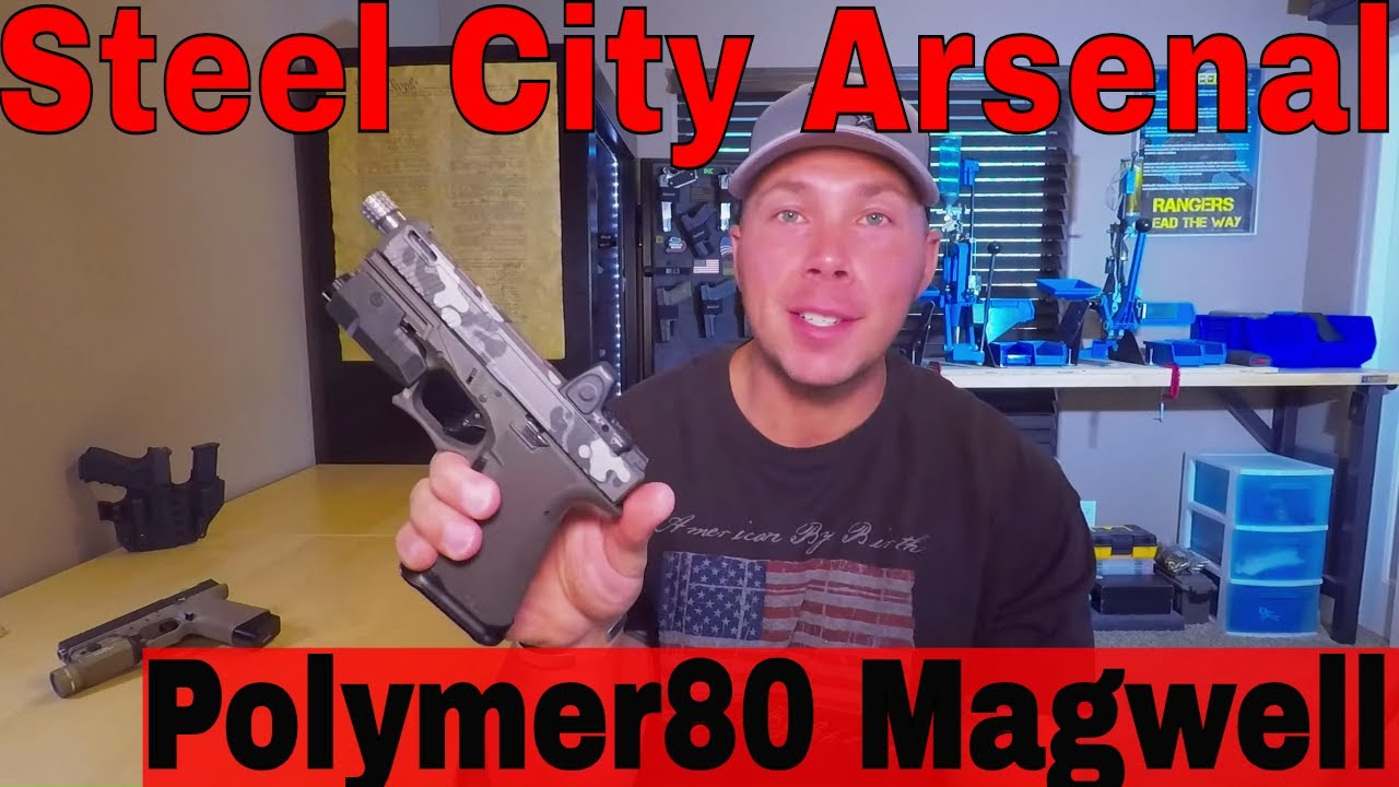 Steel City Magwell Polymer80 and Glock, Killing it!