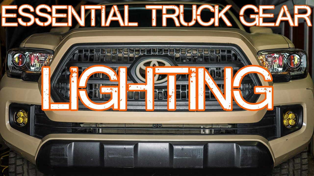 Essential Truck Gear - Episode 3 - Vehicle lighting, headlight and foglight upgrades. Toyota Tacoma