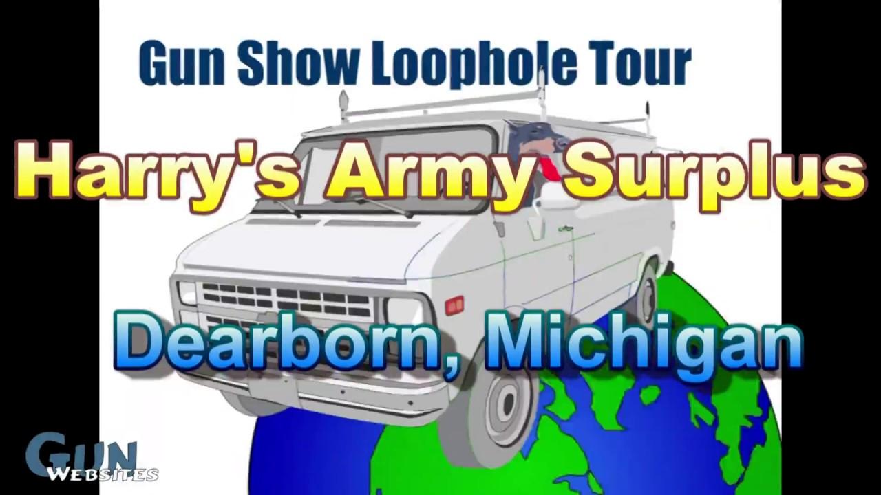Harry's Army Surplus - Dearborn Michigan Headquarters - Gun Show Loophole Tour
