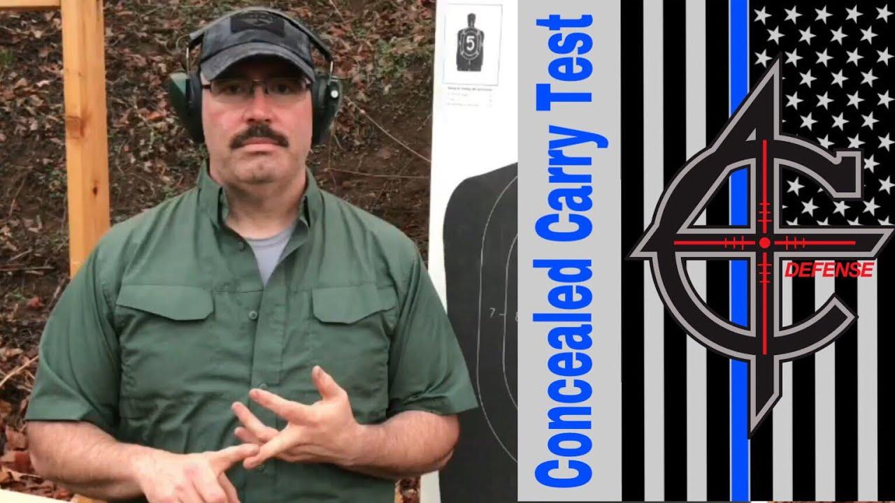 NC Concealed Carry Shooting Test | Glock 27 Gen 4