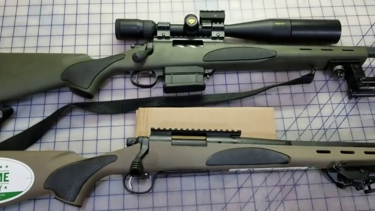 Look at a Remington 700 VTR 308 and 223