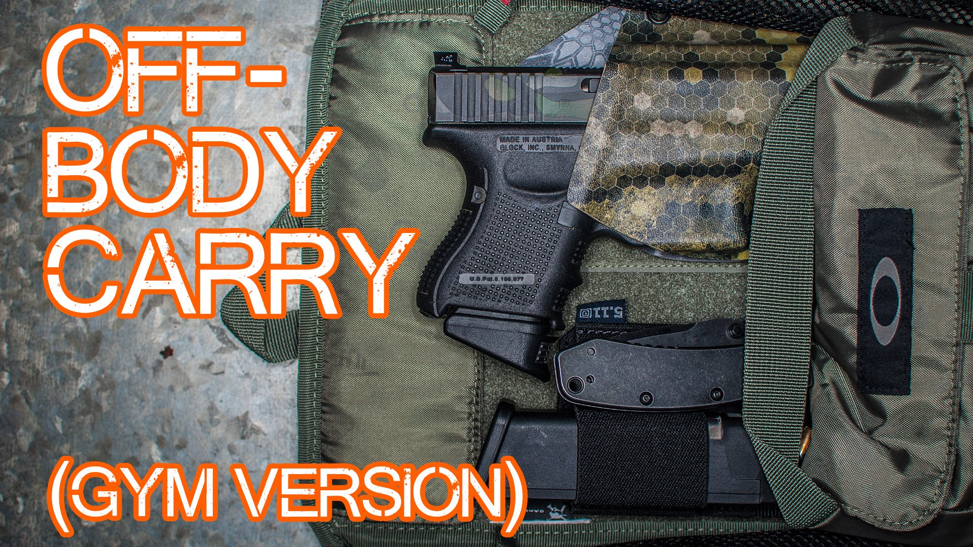 Off-Body Carry Option - Concealed Carry at the gym - Oakley Extractor Sling