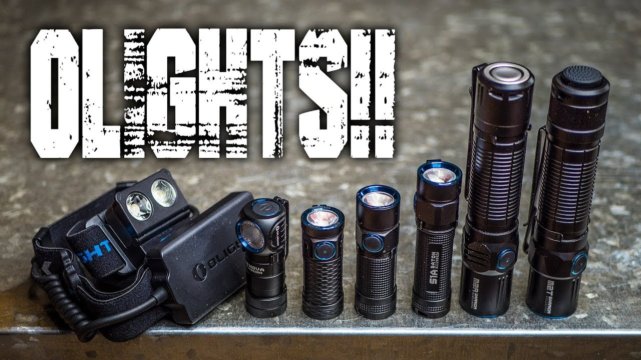 ALL the OLIGHTS Compared (K, not all, but most of the ones I like) S1 Baton, M2R, M2T, etc