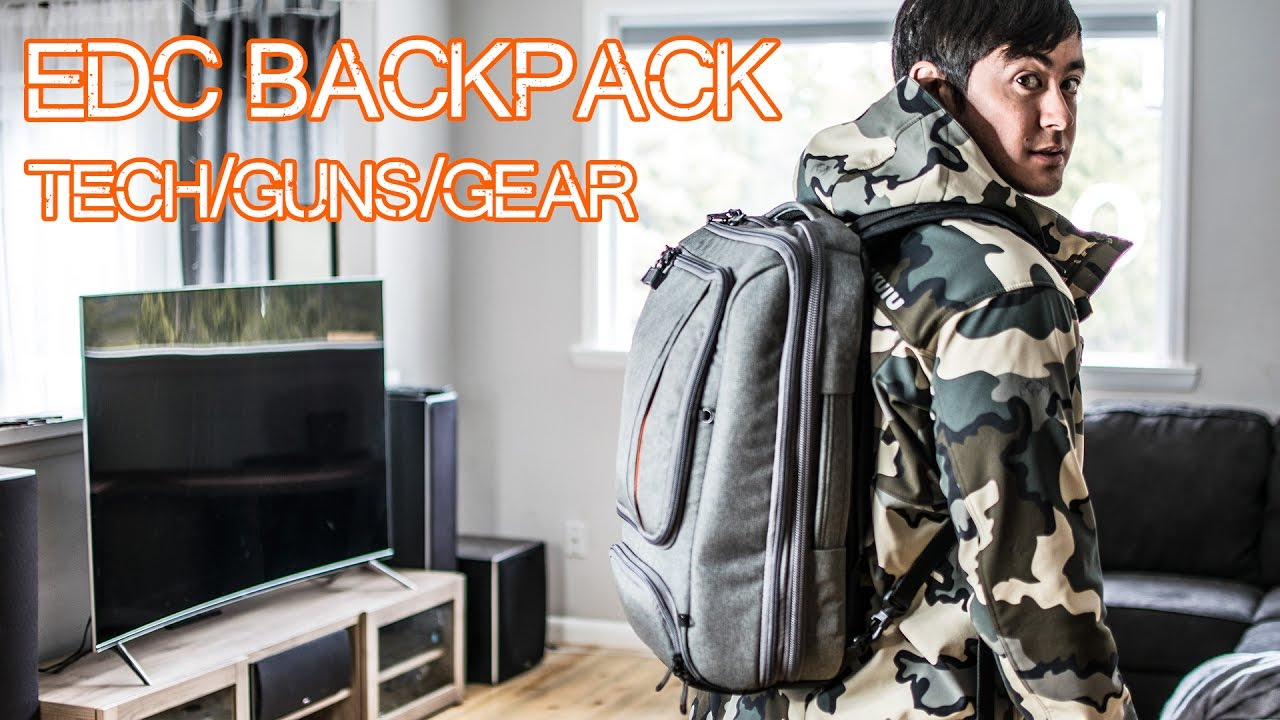 2017 EDC Backpack and on body Everyday Carry - Laptop bag, survival, Ebags Professional Slim Review