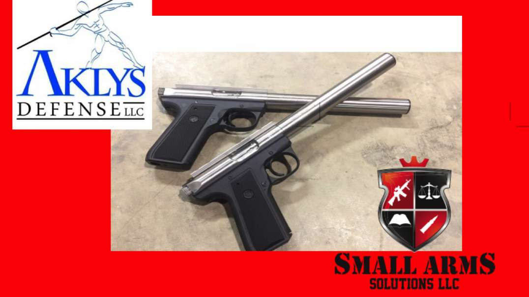 Aklys Defense OSS Integral Suppressor Ruger .22 Pistol